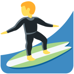 Man Surfing Emoji on Twitter