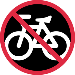 No Bicycles Emoji on Twitter