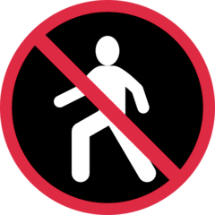 No Pedestrians Emoji on Twitter