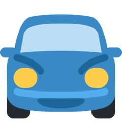 Oncoming Automobile Emoji on Twitter