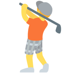 Person Golfing Emoji on Twitter