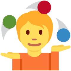 Person Juggling Emoji on Twitter