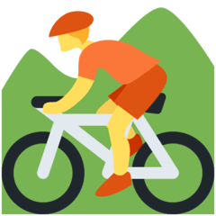 Person Mountain Biking Emoji on Twitter