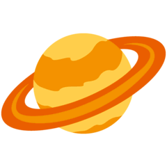Ringed Planet Emoji on Twitter