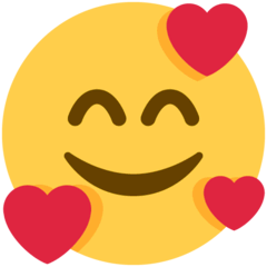 Smiling Face With Hearts Emoji on Twitter
