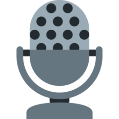 Studio Microphone Emoji on Twitter