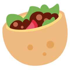 Stuffed Flatbread Emoji on Twitter