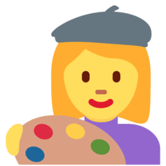 Woman Artist Emoji on Twitter
