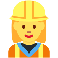 Woman Construction Worker Emoji on Twitter