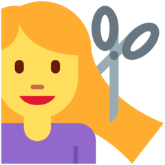 Woman Getting Haircut Emoji on Twitter