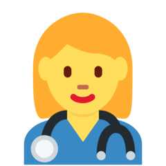 ️Woman Health Worker Emoji on Twitter