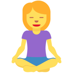 Woman In Lotus Position Emoji on Twitter