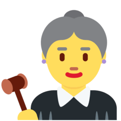 ️Woman Judge Emoji on Twitter