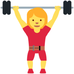 Woman Lifting Weights Emoji on Twitter