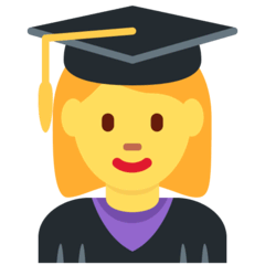 Woman Student Emoji on Twitter