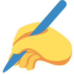 Writing Hand Emoji on Twitter