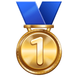 1st Place Medal Emoji on WhatsApp
