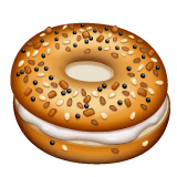 Bagel Emoji on WhatsApp