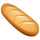 Baguette Bread Emoji on WhatsApp