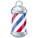 Barber Pole Emoji on WhatsApp
