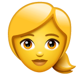 Blond-Haired Woman Emoji on WhatsApp