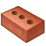 Brick Emoji on WhatsApp