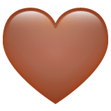 Brown Heart Emoji on WhatsApp
