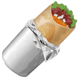 Burrito Emoji on WhatsApp