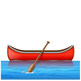Canoe Emoji on WhatsApp