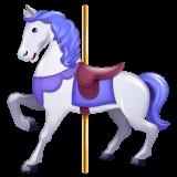 Carousel Horse Emoji on WhatsApp