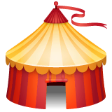 Circus Tent Emoji on WhatsApp