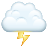 Cloud With Lightning Emoji on WhatsApp