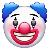 Clown Face Emoji on WhatsApp