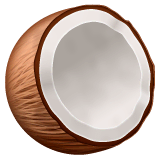Coconut Emoji on WhatsApp