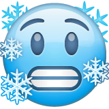 Cold Face Emoji on WhatsApp