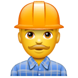 Construction Worker Emoji on WhatsApp