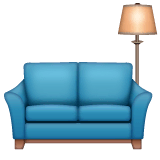 Couch and Lamp Emoji on WhatsApp