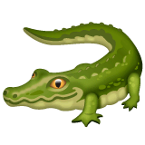 Crocodile Emoji on WhatsApp