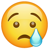 Crying Face Emoji on WhatsApp