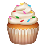 Cupcake Emoji on WhatsApp