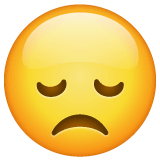Disappointed Face Emoji on WhatsApp