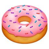 Doughnut Emoji on WhatsApp