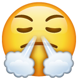 Face With Steam From Nose Emoji on WhatsApp