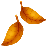 Fallen Leaf Emoji on WhatsApp