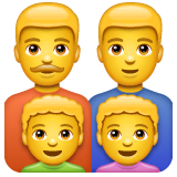 Family: Man, Man, Boy, Boy Emoji on WhatsApp