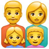Family: Man, Woman, Girl, Boy Emoji on WhatsApp