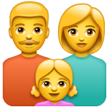 Family: Man, Woman, Girl Emoji on WhatsApp