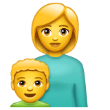 Family: Woman, Boy Emoji on WhatsApp