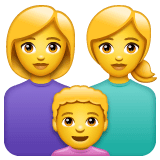 Family: Woman, Woman, Boy Emoji on WhatsApp