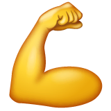 Flexed Biceps Emoji on WhatsApp